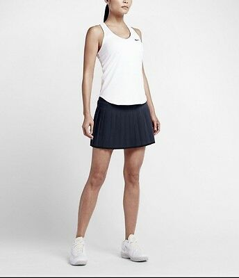 WMNS NIKE Power Court Victory Tennis Skirt - Size Large - 728773-013 - Black