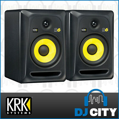 KRK Rokit 6 G3 Passive Studio Monitor Speakers R6 Unpowered Pair - Black