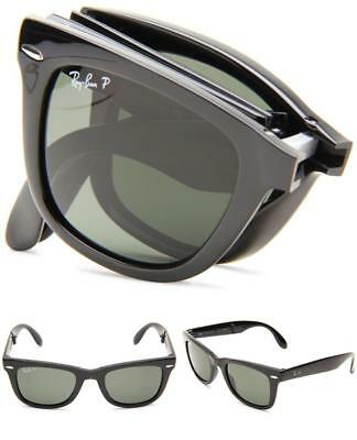 15df21349 ... buy new ray ban rb4105 folding wayfarer 601s matte black plastic  sunglasses 50mm f934d 28cb1