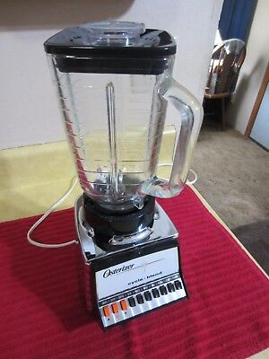 Vintage Oster Blender Osterizer Cycle Blend 10 Speed Chrome Color #847 USA Made!
