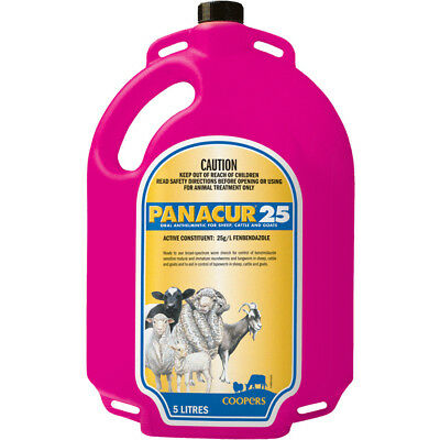 Panacur 25 - Oral Drench Wormer Sheep Cattle Goats 5lt FREE POSTAGE