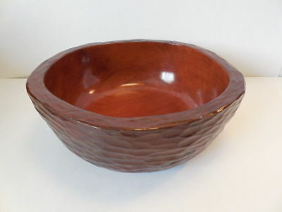 Wood Bowl - Beautiful Burl Bowl Hand Turned & Carved w Top Coat - V Very Nice!