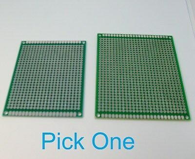 1 Double Sided PCB Proto Perf Board Through Plated 6x8 7x9 USA Comb Ship
