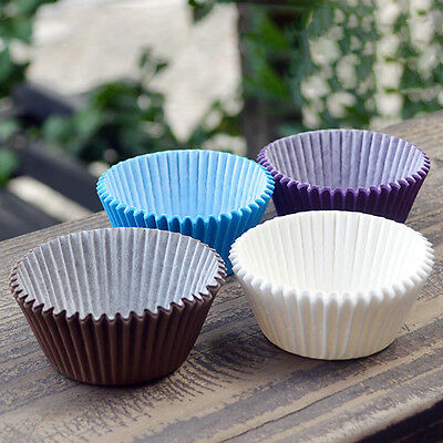 100pcs Paper Cake Cupcake Liner Case Wrapper Muffin Baking Cup 4 Color#