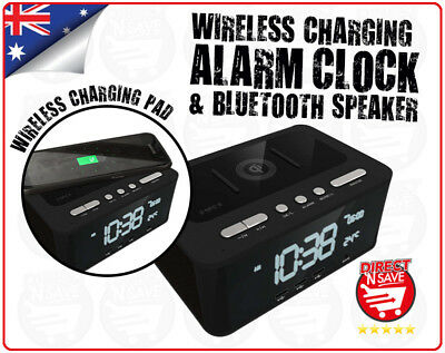 Charging Dock Multi Purpose Alarm Clock Speaker Wireless Bluetooth USB SPK-QC001