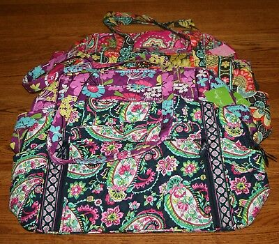 Vera Bradley MAKE A CHANGE BABY large diaper bag changing pad stroll around HTF