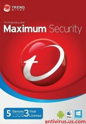 Trend Micro Maximum Security - Version for 2018 & 2019 (3 Years for 5 Devices!)