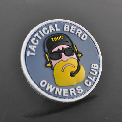 Yellow Berd PVC 3D Tactical Military Badge Rubber Morale Patch