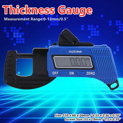0-12mm Portable LCD Digital Thickness Gauge Meter Micrometer Tester Tool LJ