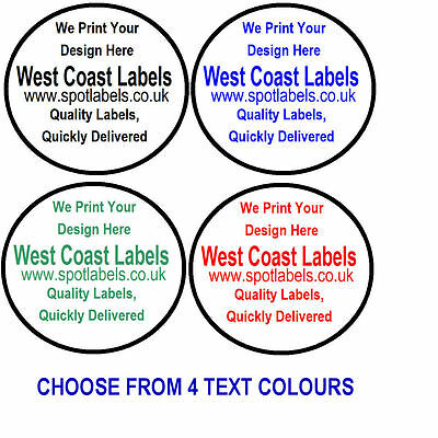 Round White Sticky Labels,Personalised Free,   43mm