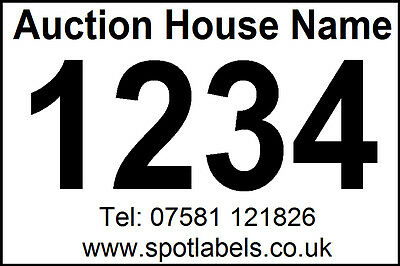 800 Personalised Auction Lot Number Sticky Easy Peel Labels, No Glue Residue