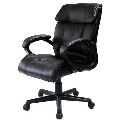 Executive PU Leather Cosy Home Office Computer Desk Task Recliner Gaming Chair