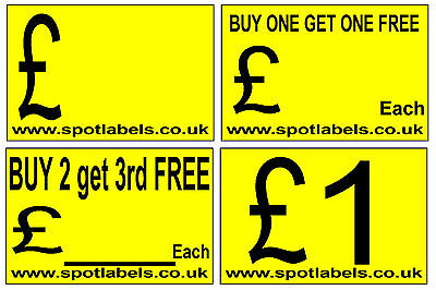 Large Self Adhessive  Sticky Price Labels Stickers Promotion Labels Personalised