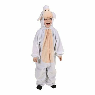 Child Sheep Costume Lamb Shepherd Christmas Fancy Dress Nativity Kids Outfit