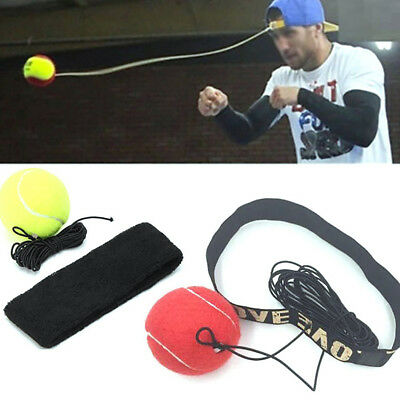BU_ Sports Fight Ball with Headband for Reflex Speed Training Boxing Exercise Ra