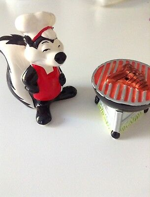 Pepe le pew salt and pepper shaker grilling
