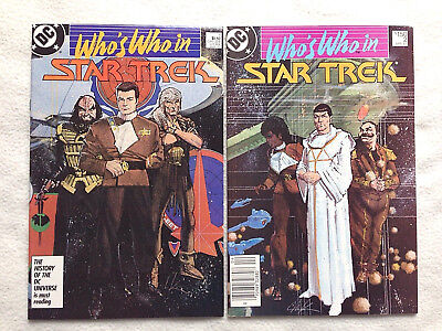 WHO'S WHO in STAR TREK #1 & 2 - DC Comics 1987