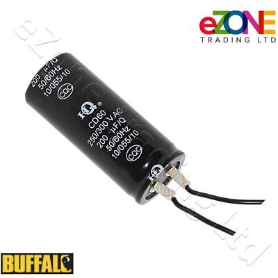 BUFFALO Capacitor Original Replacement for CD607 Dough Mixer 200 uF/Q  250/300V