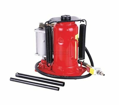 FoxHunter 20 Ton Air or Manual Bottle Jack Hydraulic With Handle Hose Heavy Duty