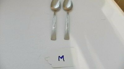 Set Of 2  International    Silco  Ins68   Teaspoons,  Stainless