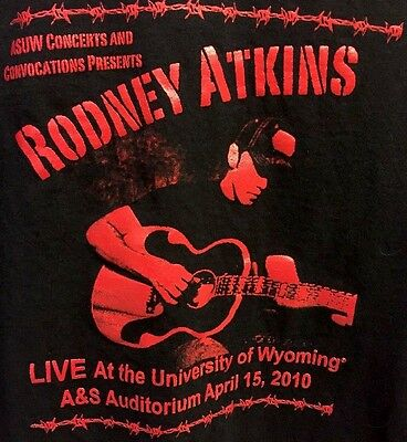 Rare! Rodney Atkins University Of Wyoming Concert Shirt Sz M! Country Rock 2010