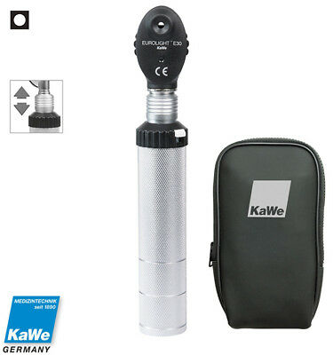 Ophthalmoscope KaWe EUROLIGHT E30 with battery handle in zipper bag