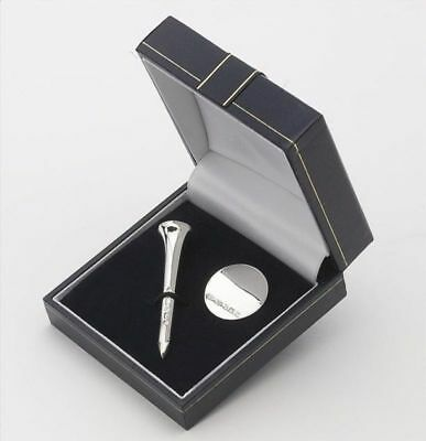 Sterling Silver Golf Pencil Tee & Marker Gift Set