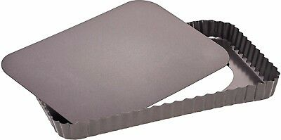 Rectangular Tart Pan with Lose Base Quiche Tin Oven Baking Tray Non Stick Easy