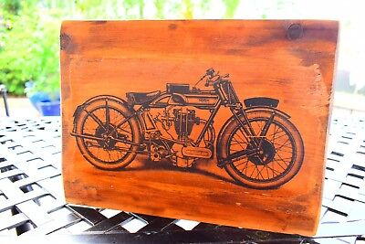 Norton  Motorcycle Vintage Wood Picture Art