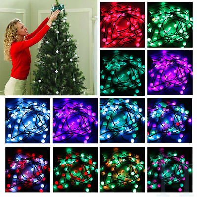Colorful LED Light Christmas Tree Fiber Optical Night Light Bulb Lamp Xmas Decor