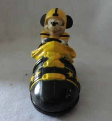 """Vintage Mickey Mouse """"Shoe Car"""" Friction Toy-Disney/Collectable/Works"""