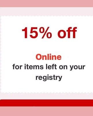 Target 15% Off Entire Registry Purchase ONLINE order