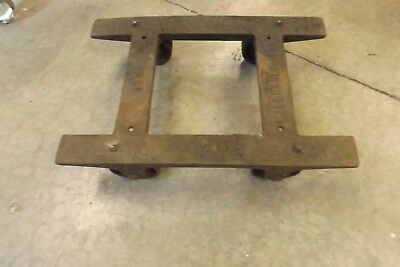 Antique Industrial HOWE  Malleable Cast Iron Dolly Cart