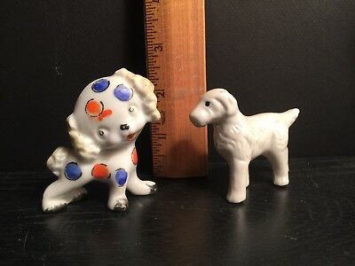 Lot Of 2 Vintage Spaniel Dogs Made In Japan