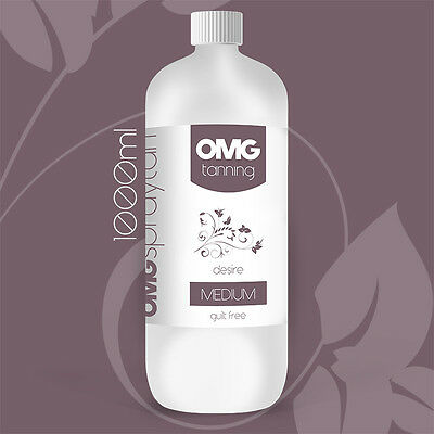 OMG Tanning Solution - 1000ml 'Desire' Medium Tan Sunless Spray Liquid (1 Litre)