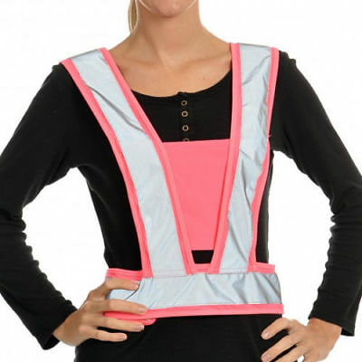 Equisafety Reflective Vest High Visibility Lightweight Body Harness Pink A612