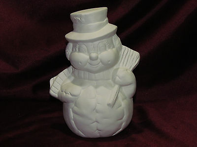 Ceramic Bisque Softy Softie Snowman Ready to Paint U Paint Christmas Winter