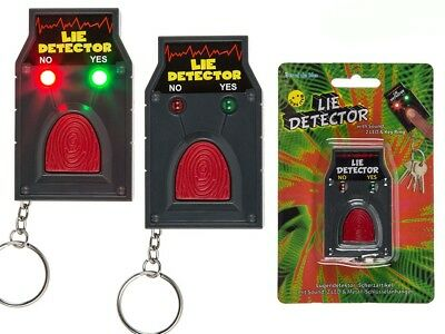Lie Detector Keyring Joke Prank Fun Light Up Novelty Kids Stocking Filler Gift