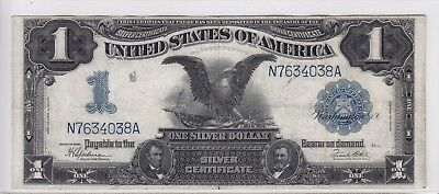United States 1899 $1 Black Eagle Silver Certificate Note FR #236 N7634038A