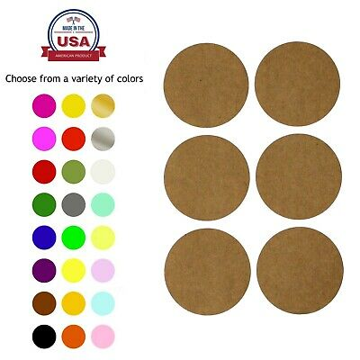 """2"""" Inch Round Dot Stickers 50mm Color Coding Labels Permanent Adhesive Dots"""