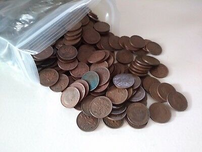 600 COINS (1937-1952) Lot of Canadian George VI Small Cents F-EF