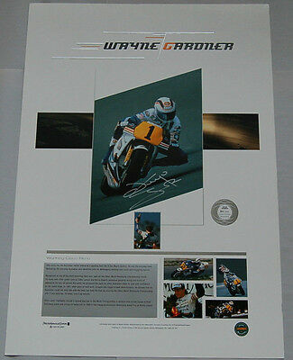 Wayne Gardner Hand Signed Limited Edition Working Class Hero Print Rossi Stoner