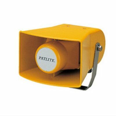 Patlite EWH-24A-Y Audible Alarm Speaker Horn, 32 Pre-Recorded Sounds, EWH Series