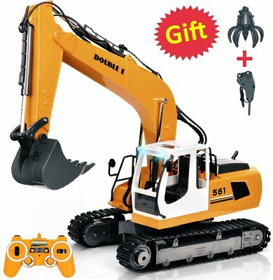 RC Toy Tractor Excavator Construction Metal Shovel 15Channel Full Functional NEW