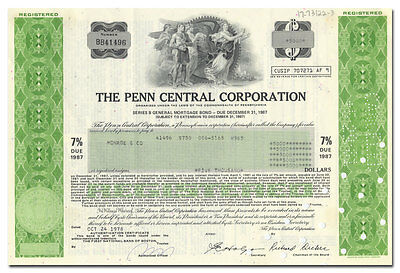 Penn Central Corporation Bond Certificate