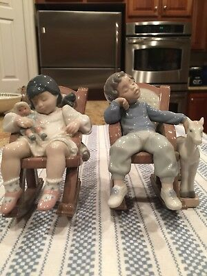 Lladro 5448 AND 5846 - Naptime & All Tuckered Out - Mint Condition