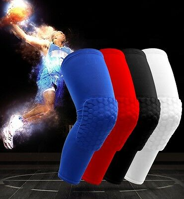 Compression Sports Lycra Leg Knee Brace Sleeve Knee Support Protect Hex Paded US