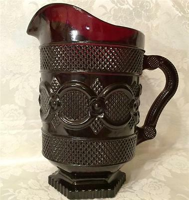 Avon Cape Cod Collection 46 oz. Water Pitcher Ruby Red new