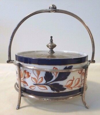 Victorian China Bowl with EPNS lid and stand, Taylor, Tunnicliffe, & Co. ca.1888