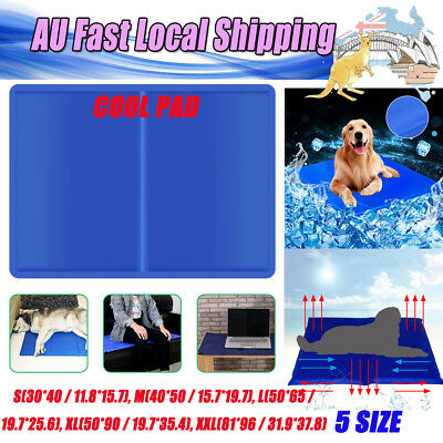 S/M/L/XL/XXL Dog Cat Cool Bed Gel Mat Non-Toxic Cooling Summer Bed Pad Large XXL